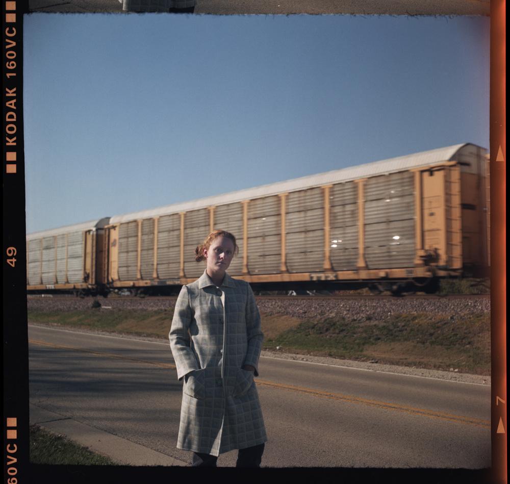 """Railfan  (2008)  Archival Inkjet Print, 30""""x 30"""""""