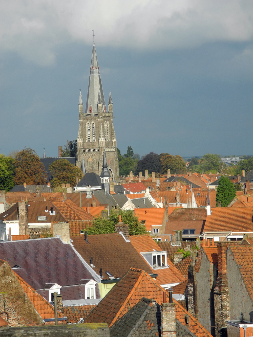 Bruges rooftops.