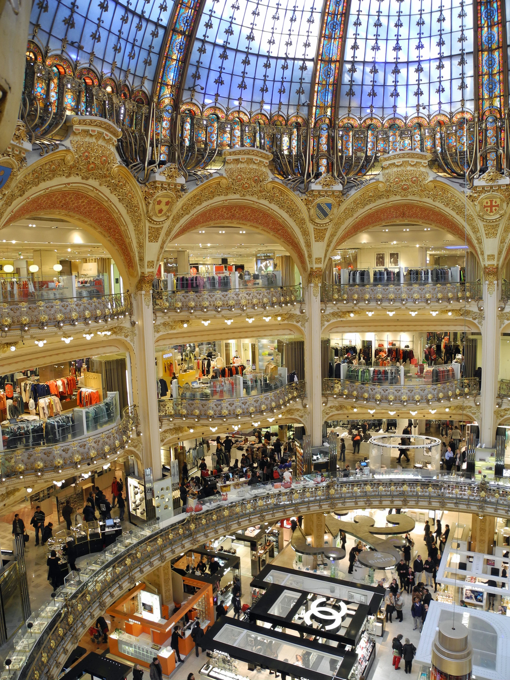 Belle-Epoque grandeur of the famed department store, Printemps