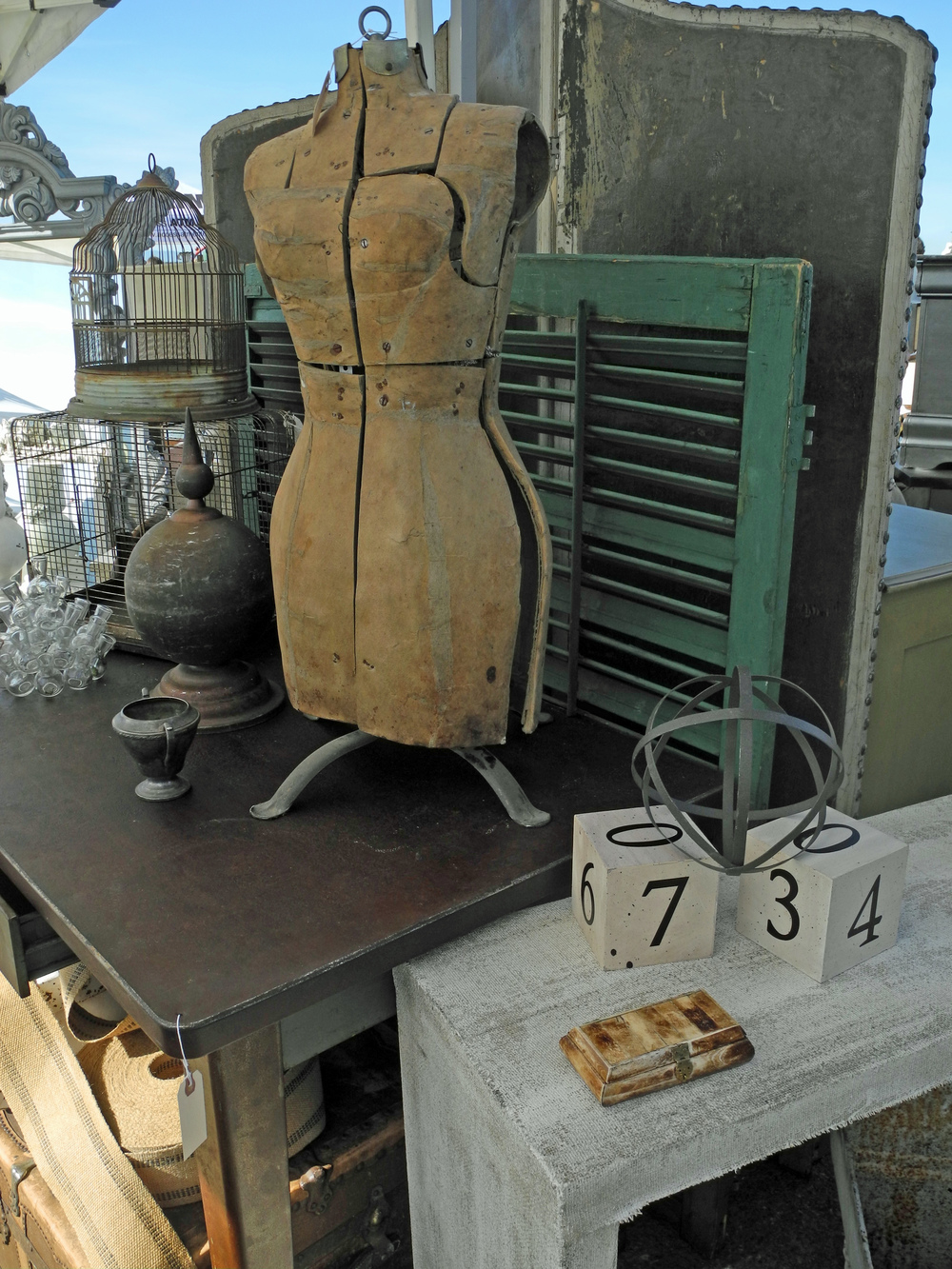 Mannequin and shutters become table-top display