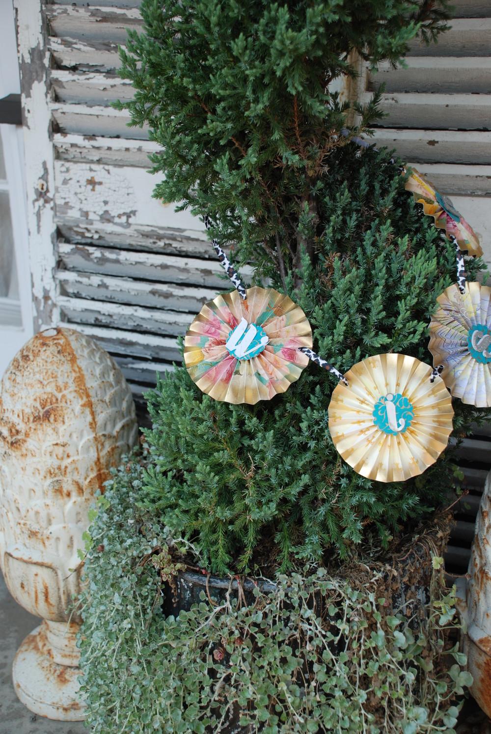 Paper Ephemeral Decorates Topiary