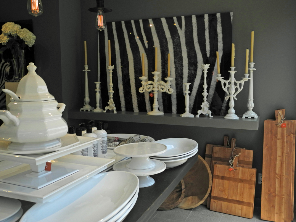 Hudson Grace pottery and candelabras