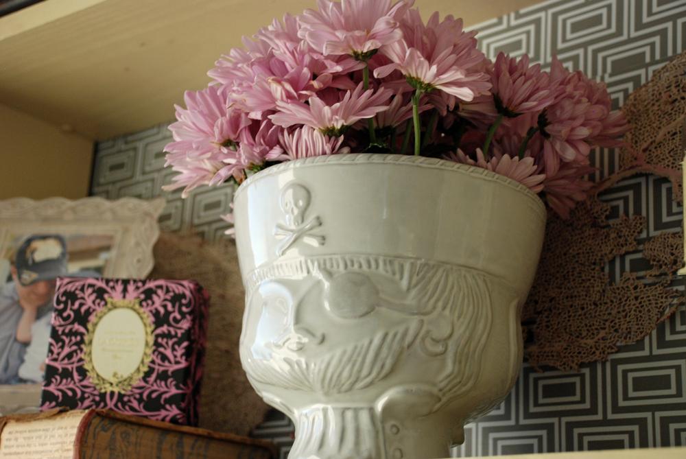 Jonathan Adler vase adds a modern flair