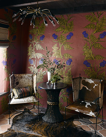 This bold wallpaper would transform any space into pure chic.
