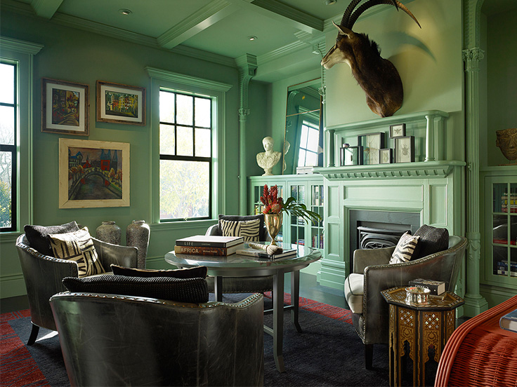 Who knew mint green could be an AMAZING interior color!