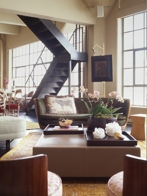 An inviting luxurious loft.
