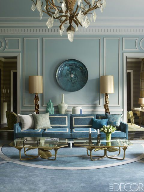 Saturated in blue and grounded in gold - what's not to love? {via  Elle Decor }