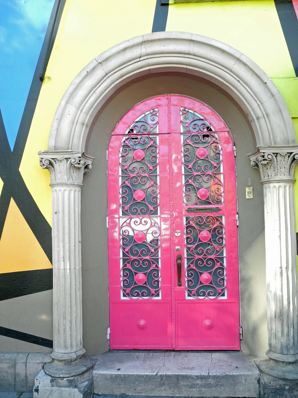 Vibrant Mexico City Door
