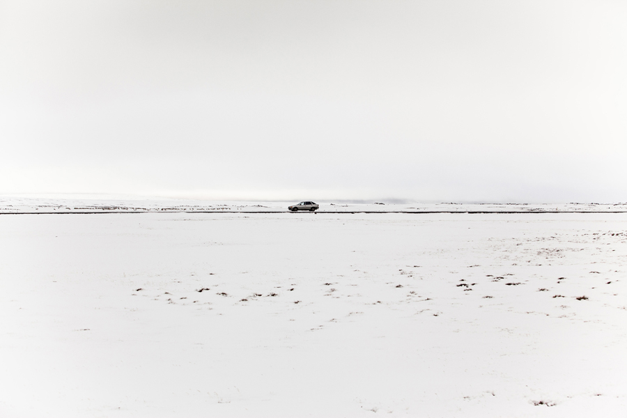 "My borrowed car on Iceland ""The Steel"". She makes it everywhere <3"