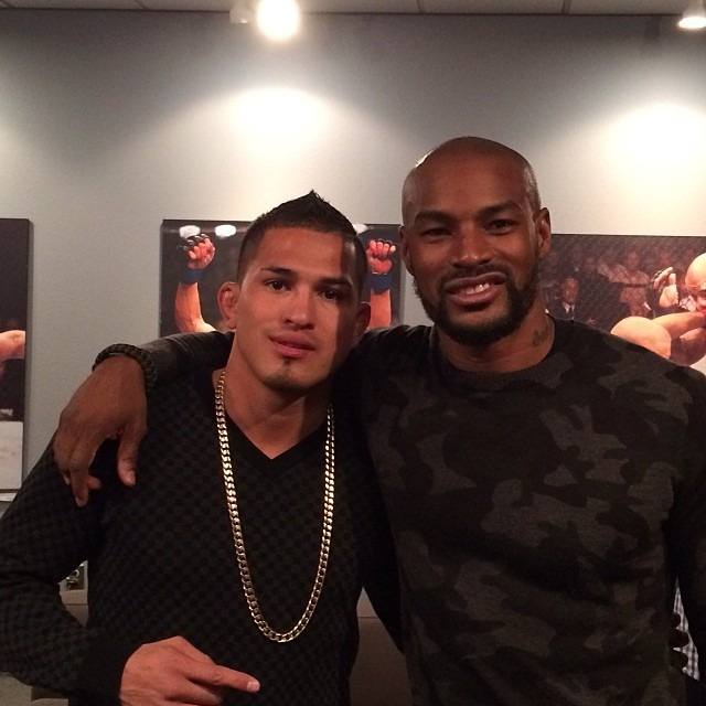 @tysoncbeckford & @showtimepettis post @monsterproducts / @ufc headphone launch party. thanks for a great time!
