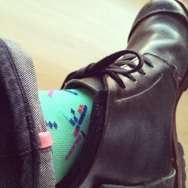 @theathletic PDX socks not just for cycle times… They make office times pretty happening too