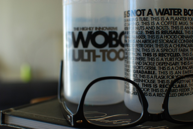 Swobo's  biodegradable bottle marketing is smart.  Like my glasses.  Like that book about succulents,  Subtraction .