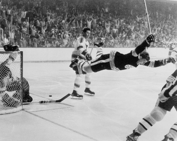 If there's a goal that everyone remembers, it was back in ol' 72  we all squeezed the stick and we all pulled the trigger  and all I remember is sitting beside you  you said you didn't give a fuck about hockey  and I never saw someone say that before  you held my hand and we walked home the long way  you were loosening my grip on Bobby Orr