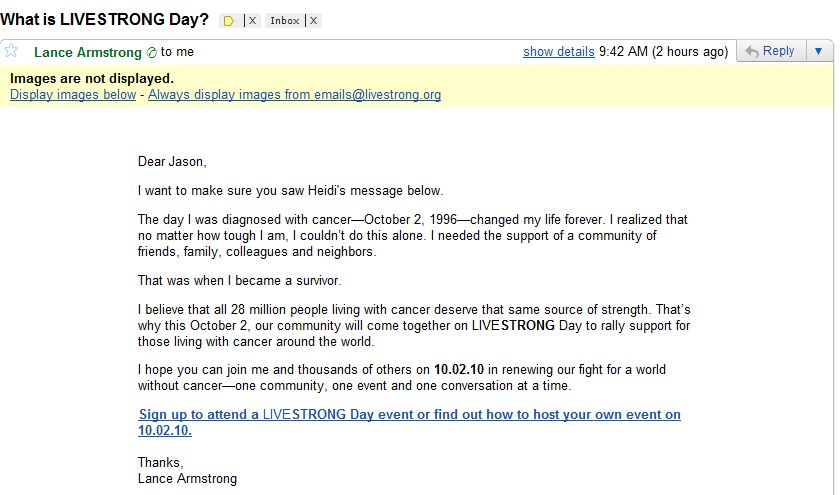 How did this guy get my email?  Hope isn't selling it…