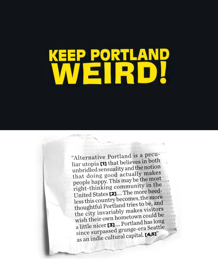 "Everyone seen this?  I am not thinking they (pdx) have anything to worry about.  Besides, Seattle desperately trying to regain our ""grunge-era…cultural capital"" status.   Check out  weights&pulleys  to see the cool/fun/innovative happenings.   We do have  Aaron McCaig Erbeck  and that is worth it's weight&pulley in gold."