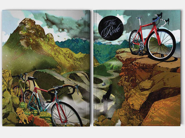 Ride Journal    I Love Dust    We have been working alongside Andrew Diprose since the beginning of The Ride Journals life and have worked on 4 covers to date.  Each cover takes a look at different aspects of biking and is designed to reflect the season in which it is released.