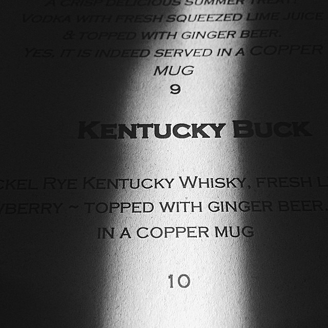 Kentucky Buck. #whisky
