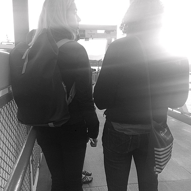 On the left #brooksengland canvas pack / on the right #rapha cycle club musette. These ladies are clearly cooler than me.