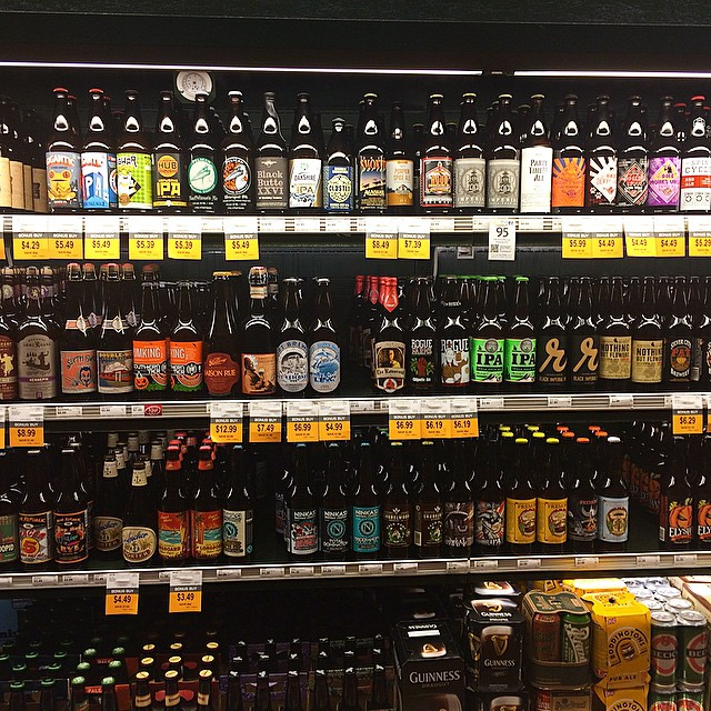 Even the regular grocery shops have a deep #beer selection in the #pnw. I just like to stare…