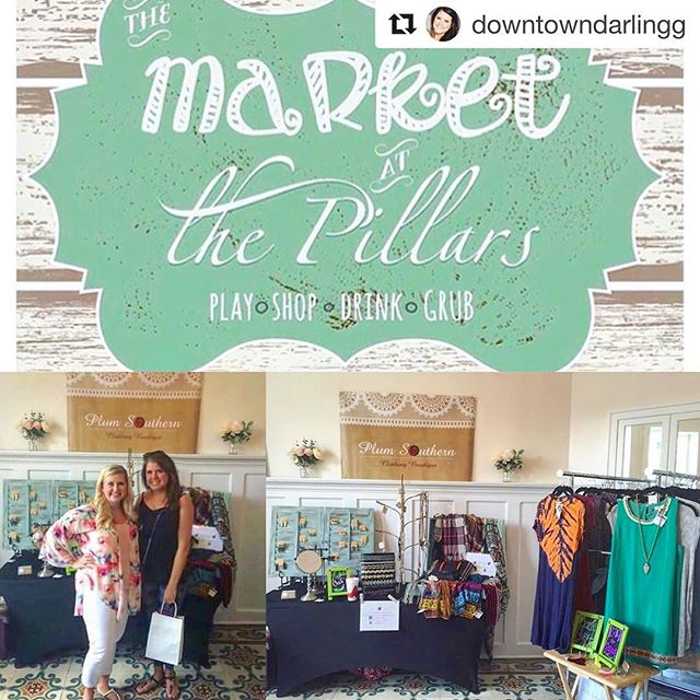Market at the Pillars is full of unique vendors, including my girl Laura's boutique, @plum.southern and many others! #shoplocal #shopsmall #somobile  via @downtowndarlingg
