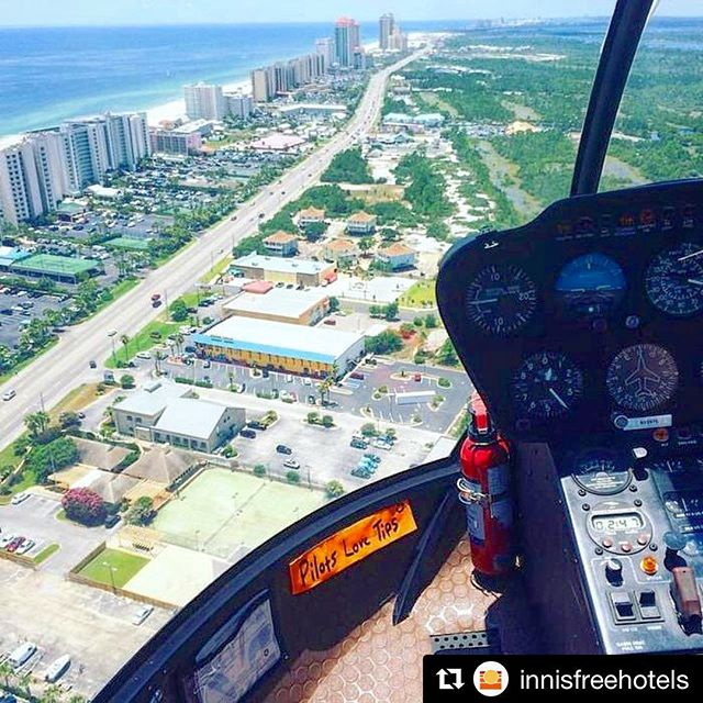 🏖🚁🌊 Innisfree Hotels' (@innisfreehotels) photographer, Josh Thurber, went above & beyond to shoot the exterior of their brand new hotel, @tideshotelob Orange Beach. Thank you, Orange Beach Helicopter Tours for the fun experience. #havingfunatinnisfree