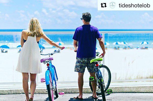 🚴🏻🚴🏽♀️ Cruise like a local with the free beach cruisers at Tides Hotel in Orange Beach, AL! @tideshotelob