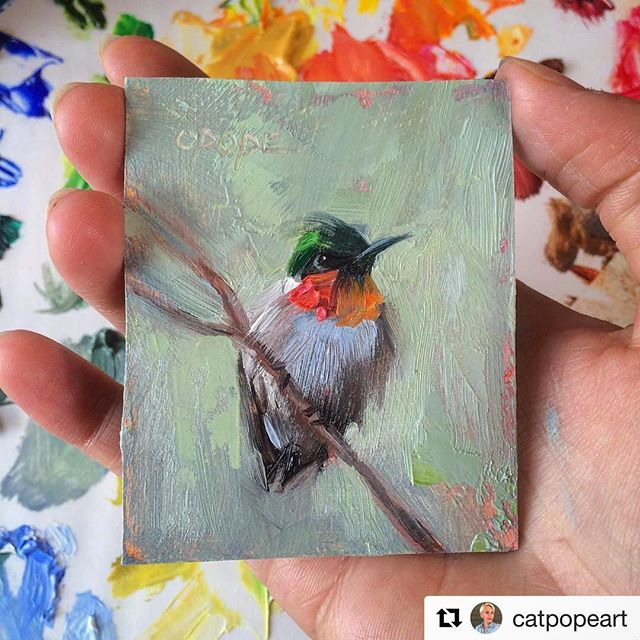 "3x3"" oil by Cat Pope Art (@catpopeart) in Mobile, AL  Checkout Cat's new shop opening soon! Details at catpope.com"
