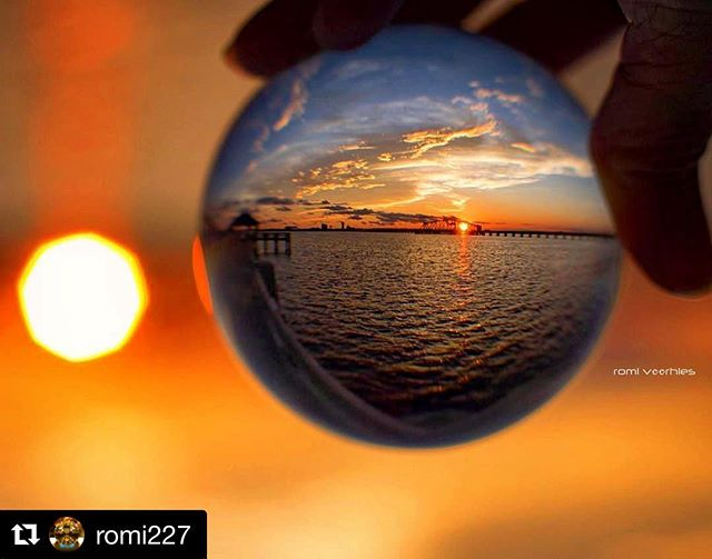 🌅 Eye Spy Biloxi Sunset  via @romi227  #sunset #sunsetsofinstagram #biloxi #biloxibay #traintrestle #traintrestlebridge #eyespynola #gulfcoast #mississippi