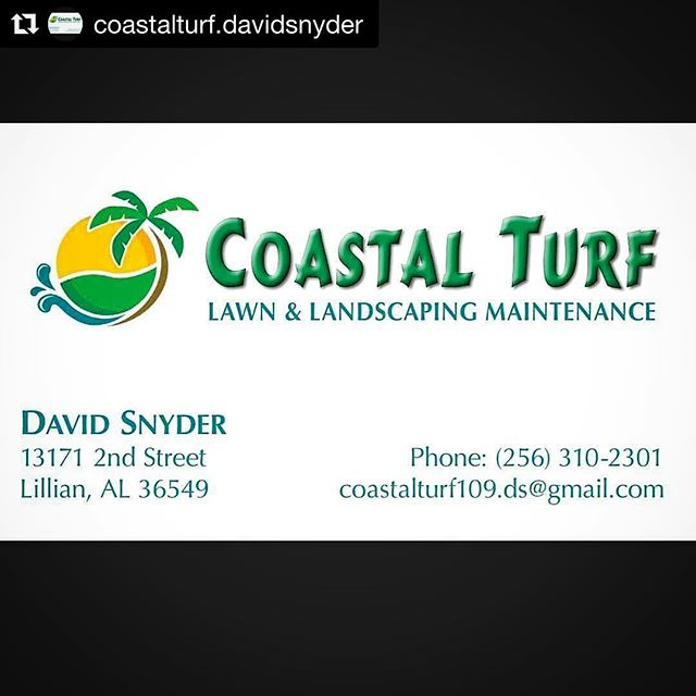 Coastal Turf (@coastalturf.davidsnyder) provides quality lawn & landscaping maintenance for your business or residence. Let them serve you!