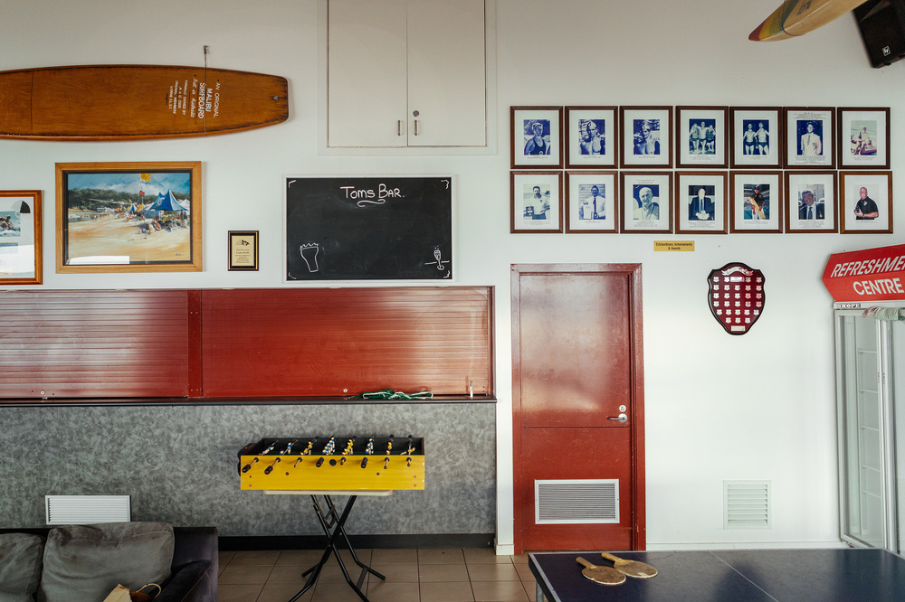 The Lorne Surf Life Saving Club sits quiet and empty during the winter months aside from a few school Surf Camps that come through from time to time.