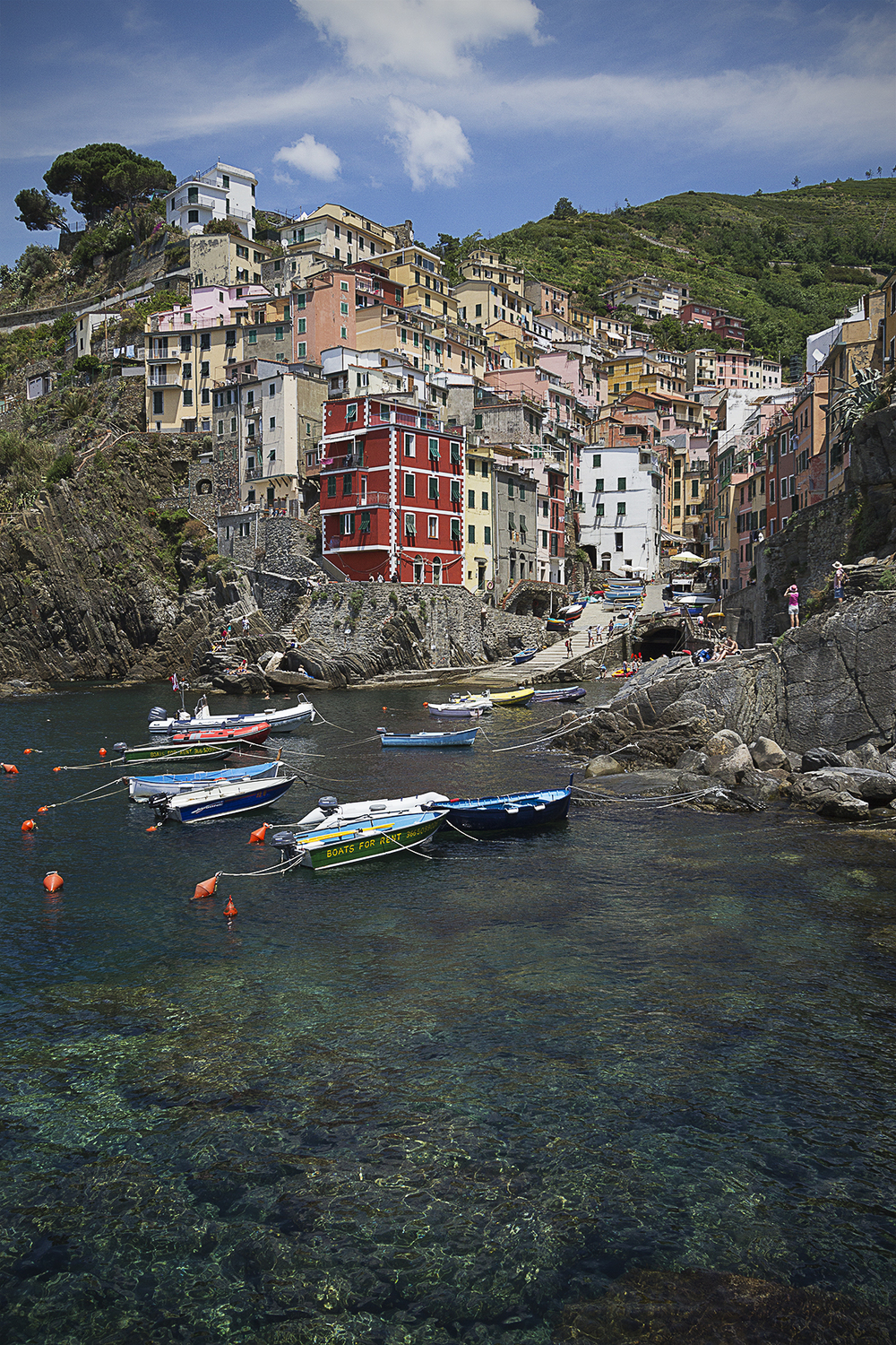 Beautiful Riomaggiore. One of the 5 villages of Cinque Terre.