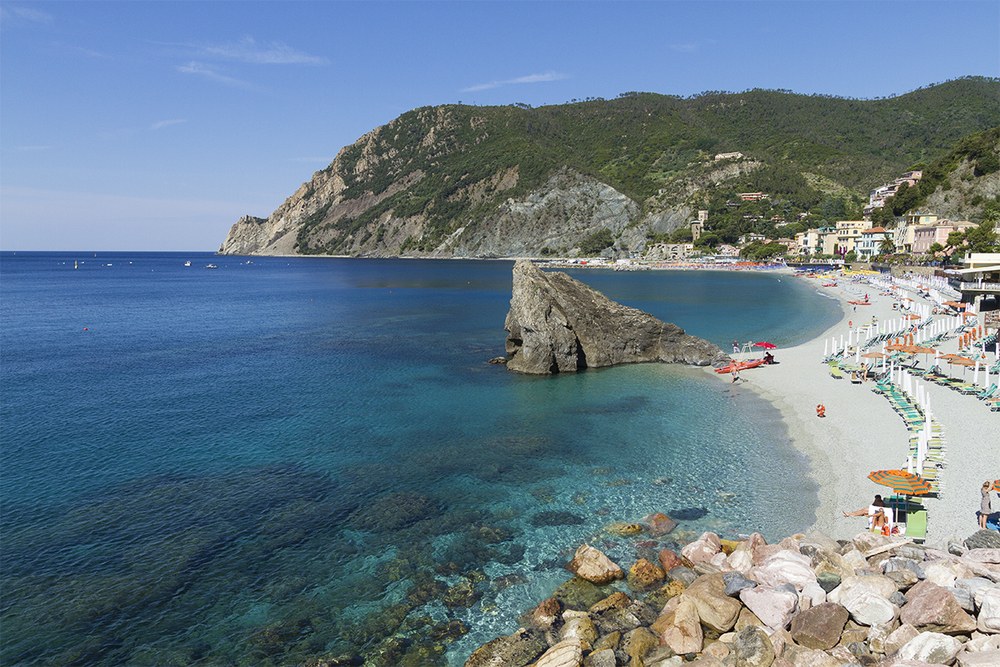 The crystal-clear waters of Monterosso.
