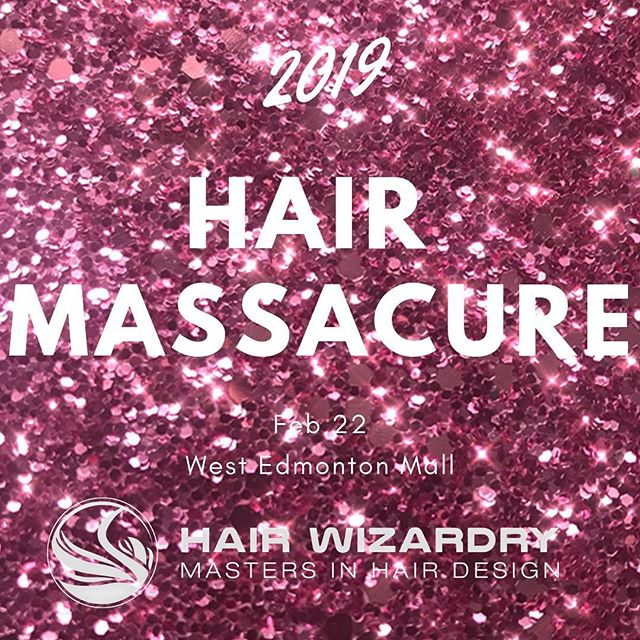It's that time of year folks! Call the salon and get one of our lovely junior stylists to set you up with some bright pink hair or come by the West Edmonton Mall for a head shave! #hairmassacure2019