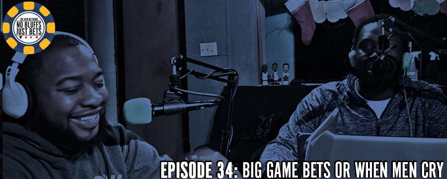 Its time to get ready for a special Big Game episode of No Bluffs Just Bets. Justin Ford and CJ Hurt take a look at some of their favorite prop bets from this year's Big Game. What color will the Gatorade shower be? How many times will dabbing be said during the broadcast? When can a man cry? Find out these things and more on this week's episode of NBJB.  Help support the show by making any regular purchase @  theoamnetwork.com/amazon