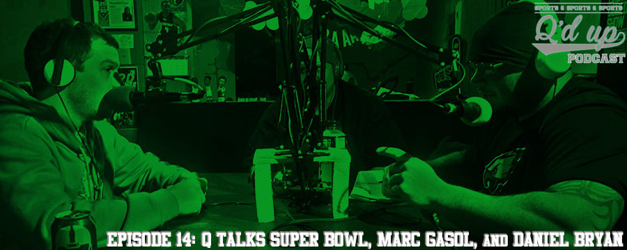 Q, CJ, and Tim recap the Super Bowl, talk about the upcoming NFL season, Marc Gasol's injury, Daniel Bryan, and have the 1st call in guests on the OAM hotline.  Help support the show by making any regular purchase @  theoamnetwork.com/amazon