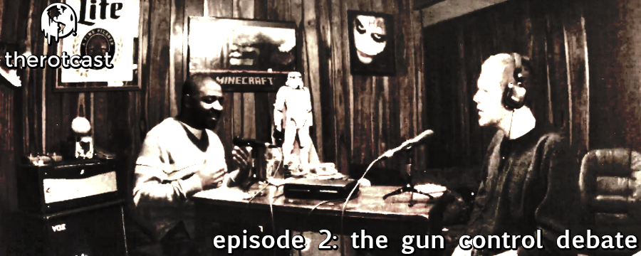 The Rotcast tackles the massively divisive subject of gun control with guest Sean Mosely host of the 'For The Love of God' podcast.' This conversation will lead the audience through cultural issues, worldview differences and deep civil rights questions. Brace for impact and open your minds, as it may not end the way you'd think it would.  Start your free Audible trial and support this podcast @  audibletrial.com/oam