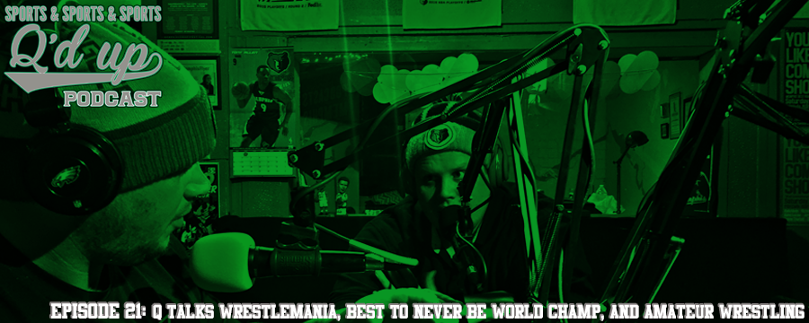 Q and CJ are joined by Pokerface to discuss the road to Wrestlemania , who's the best to never be world champ and the independent wrestling scene.  Help support Q by making any regular purchase @  theoamnetwork.com/amazon