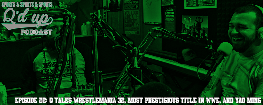 Josh and Brennan from local Memphis Band HEELS join Q to break down Wrestlemania 32, discuss what the most prestigious title in the WWE is, and should Yao Ming be inducted into the HOF? Check out Side Street Grill @ 31 Florence St. Memphis, TN for some delicious food and great cocktails!