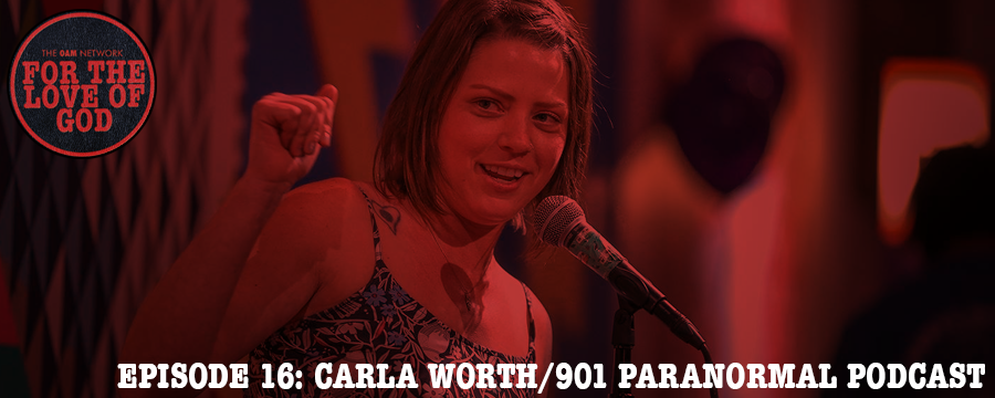 Carla Worth is a Memphis native, founder and co-owner of Aunt Key's Apothecary Clean (www.apothecaryclean.com), and host of the 901 Paranormal Podcast. In this episode with Carla, we explore the connection between religion and the Paranormal, and more.   Help support For The Love Of God and start your FREE Audible trial today @  audibletrial.com/oam