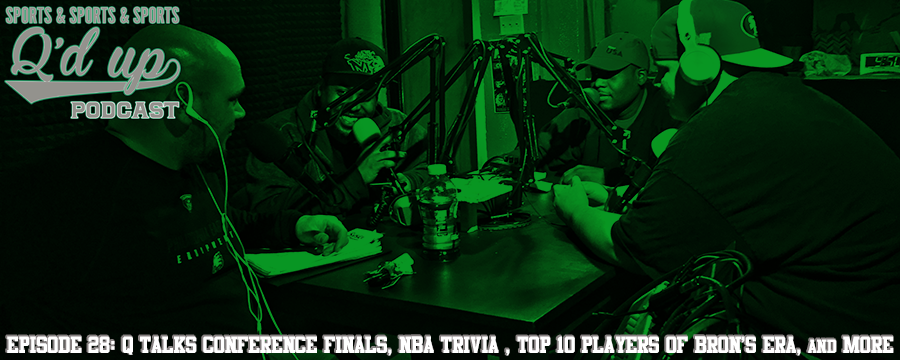 Q is joined by CJ, Darnell, and Rex to talk NBA conference finals, play NBA trivia , who are the top 10 Players of Bron's era, and rank NFL teams.  Check out Side Street Grill @ 35 S Florence right here in Memphis, TN. Great food, GREAT DRINKS!