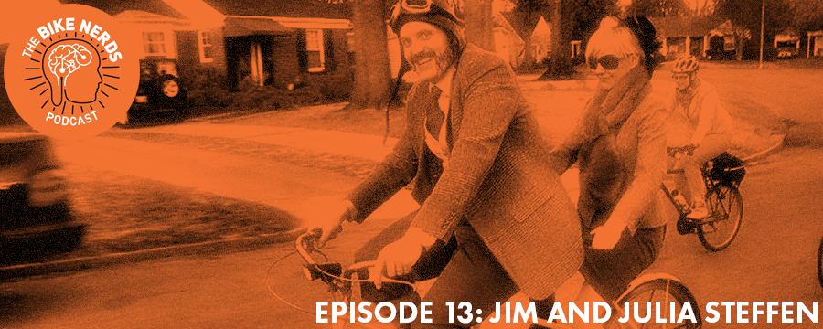 Owners of The Bikesmith in Memphis, Jim and Julia Steffen sit down with Sara and Kyle at the podcast studio to talk bikes, Legos, and falling in love while building bikes.  Help support the Bike Nerds and start your FREE Audible trial today @  audibletrial.com/oam