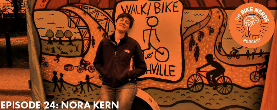 This week Sara and Kyle are joined by Nora Kern, Executive Director of Walk Bike Nashville. Nora talks about her time working on a fishing boat in Alaska and all the great biking and walking advocacy happening in Tennessee's capitol city. Alaskan bushwhacking, bike share, social media campaigns, and a crazy theory about the Sith Rule of Two - it all gets covered in this episode.