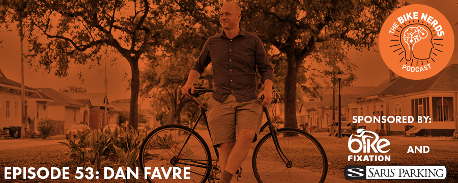 Dan Favre, Executive Director of Bike Easy in New Orleans, LA, sits down with Sara and Kyle this week to talk Mardi Gras, the city'scharm, and a culture that values public space. Social bike rides, neighborhood complete streets ambassadors, and bicycle second lines are all part of the community-driven efforts that Bike Easy leads under Dan's guidance.  The Bike Nerds Podcast is sponsored by Saris Cycling Group. Visit  www.sarisparking.com   for a full array of bicycle parking and infrastructure products.  Visit  www.sarisparking.com/bikenerds  before March 23 and sign up to win a free Bike Fixation Outdoor Public Bike Pump.