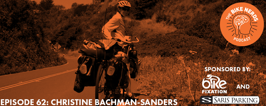 "Kyle flies solo this week to talk with Christine Bachman-Sanders, a Ph.D. candidate at the University of Minnesota and an accomplished touring cyclist, having ridden across America and through a big chunk of Europe. Christine's research examines the relationship between the ""new woman,"" American imperialism, and the bicycle craze of the 1890s. She is particularly concerned with how American Manifest Destiny, classed and raced associations with leisure, and suffragist notions of women's empowerment that house race and class logics interact with the symbolic and material power of the bicycle. The Bike Nerds Podcast is sponsored by Saris Cycling Group. Visit www.sarisparking.com for a full array of bicycle parking and infrastructure products."