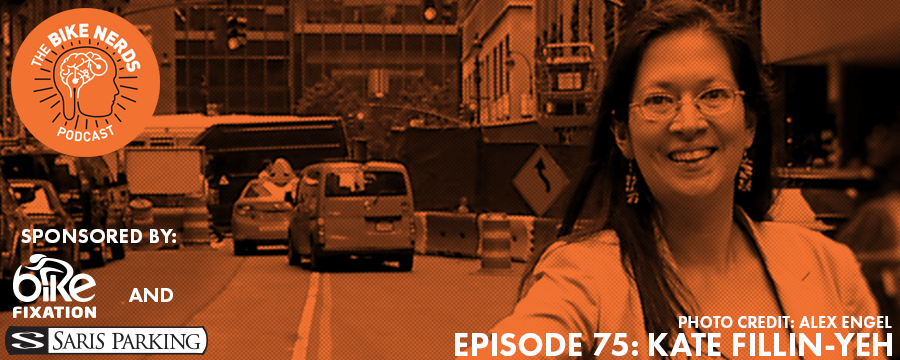 Continuing our series on bike share, this week the Bike Nerds welcome Kate Fillin-Yeh to the show. As the Director of Strategy for NACTO (the National Association of City Transportation Officials), Kate spends time working on bike share, safety, and other policy issues. Prior to NACTO, Kate designed and implemented Citi Bike in NYC, the nation's largest and most heavily used bike share program. Kate offers insight on how bike share fits into the larger transportation ecosystems within cities and her opinions on the future of bike share in North America.  The Bike Nerds Podcast is sponsored by Saris Cycling Group. Visit  www.sarisparking.com  for a full array of bicycle parking and infrastructure products.