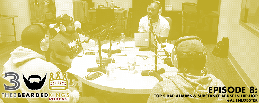 "In this episode, The 3 Bearded Kings are joined by guest host Kalen Bell to debate the top 5 rap albums of 2017 and to scrutinize substance abuse in Hip-Hop and its effect on the Black community. Recommendations: ● Will — Viceland App (https://itunes.apple.com/us/app/viceland/id1075922366?mt=8) ● Tyler — Hopper App (https://itunes.apple.com/us/app/hopper-watch-book-flights/id904052407?mt=8) ● Leonard — 99U.com (www.99u.com)   Sponsor: 1. The Curve Society (https://www.shopthecurvesociety.com) 2. Black Scholars Publishing (www.blackscholarspublishing.com - Who Is David Rothenberg: A College Love Story will be available on 10.31.2017 via Amazon, Kindle, BarnesandNoble.com, and iBooks. After listening, please share this podcast with 3 friends, type The 3 Bearded Kings using the search option, click our logo, click the ""Reviews"" tab, and select ""Write a Review."" Also, please follow us on Instagram, Facebook, YouTube and Twitter. ***The 3 Bearded Kings Podcast shirts are now available at www.blackscholarspublishing.com/store/ ***"