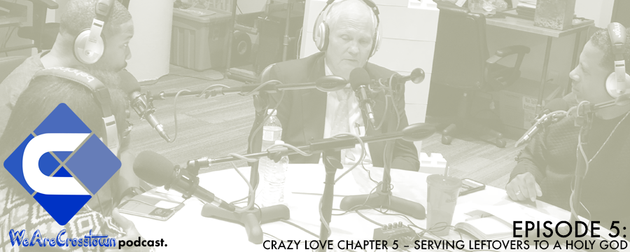 """This week we had an interview with special guest Dr. Scott Morris, Founder and Executive Director of Church Health, a medical and wellness company in Memphis seeking to reclaim the Church's biblical commitment to care for our bodies and our spirits.  We continued our book discussion with Chapter 5 """"Serving Leftovers to a Holy God"""" of the book Crazy Love by Francis Chan, pastor of Cornerstone Community Church in Simi Valley, California. Crazy Love explores how God is calling you to a passionate love relationship with Himself. Because the answer to religious complacency isn't working harder at a list of do's and don'ts — it's falling in love with God. And once you encounter His love, as Francis describes it, you will never be the same. Next week we will discuss Chapter 6 titled """"When You're In Love""""."""