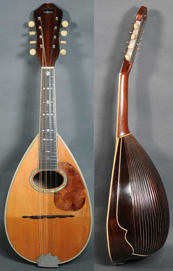 Front and side of Neapolitan Mandolin