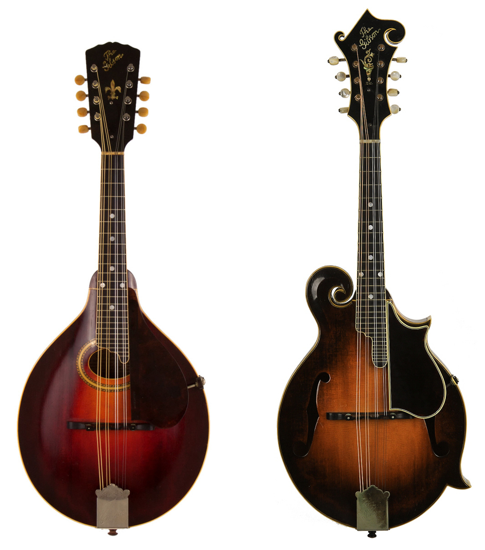 """""""A"""" and """"F"""" style Gibson Mandolins."""