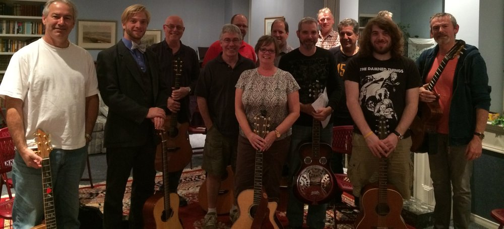 Participants of the Fingerstyle Guitar Workshop (Still smiling!)